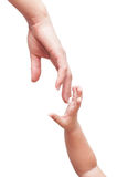 Two hands are drawn towards each other Royalty Free Stock Image