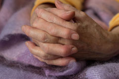 Woman's hand. Two hands of an elderly woman Royalty Free Stock Image