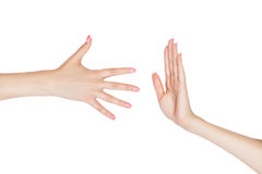 Two hands. Royalty Free Stock Photography