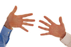Two hands figuring number ten Stock Images