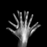Two hands with fingers Stock Photography