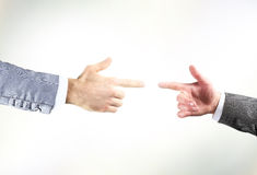 Two hands with fingers Royalty Free Stock Images
