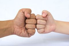 Two hands fist Stock Photos