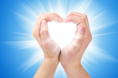 Two hands form a heart shape Royalty Free Stock Images