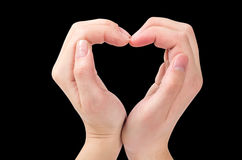 Two hands form a heart shape Royalty Free Stock Image