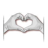 Two hands forming a heart. Two hands forming a big heart Royalty Free Stock Photo