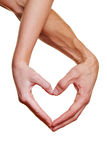 Two hands forming heart shape Royalty Free Stock Photo