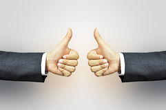 Two hands giving thumbs up Stock Photo