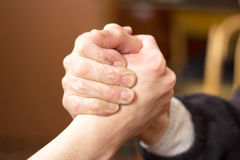 Handshake. Two hands in a handshake Stock Images
