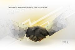 Two hands handshake vector illustration