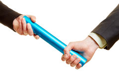 Two hands holding a baton Royalty Free Stock Photography