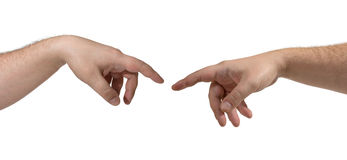 Two hands isolated Stock Photos