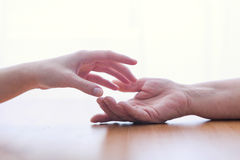 Two hands isolated Stock Images
