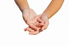 Two hands isolated on white background Royalty Free Stock Images