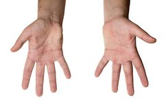 Two hands isolated Royalty Free Stock Photos