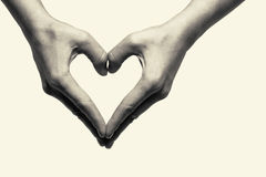 Two hands -love. Two hands (love exciting heart Royalty Free Stock Photo