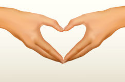 Two hands made in the form of heart. Vector Royalty Free Stock Photos
