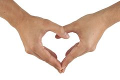 Two hands make heart shape Stock Image