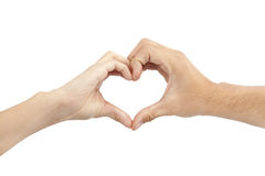 Two hands make heart shape Royalty Free Stock Photos