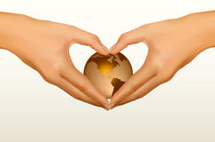 Two hands making the form of heart Royalty Free Stock Photography