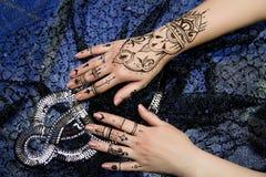 Two Hands Mehendi Stock Photo