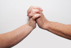 Two hands old together Royalty Free Stock Image
