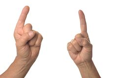 Two hands one sign Royalty Free Stock Photos