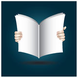 Two Hands Open The Book To Reading Royalty Free Stock Photos