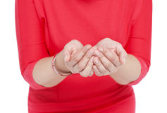 Two hands open palm gesture isolated Royalty Free Stock Image