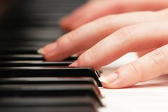 Two hands playing music Royalty Free Stock Image