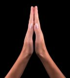 Two hands praying Stock Photography