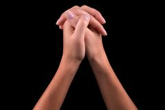 Two hands praying Royalty Free Stock Photos