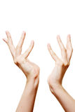 Two hands reaching out Stock Photography