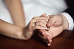 The two hands Stock Images