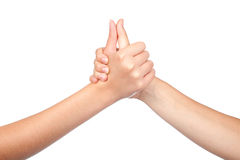Two hands teenager Stock Photography