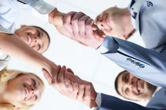 Two handshakes Stock Photography
