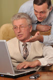 Two Handsome Businessman Working Together Royalty Free Stock Photo