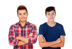 Two handsome guys Stock Photo