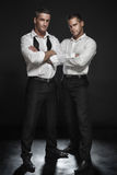 Two handsome man posing. Stock Photos