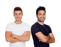 Two handsome men Royalty Free Stock Photo