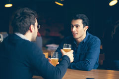 Two Handsome Men In Pub Royalty Free Stock Image