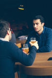 Two Handsome Men In Pub Stock Photography