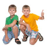 Two handsome young boys Royalty Free Stock Images
