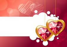 Two hanging hearts Royalty Free Stock Images