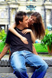 Two happiness lovers Royalty Free Stock Images