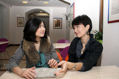Two happy asian girls Royalty Free Stock Photo