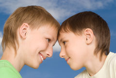 Two happy brothers Royalty Free Stock Images