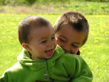 Two happy brothers Royalty Free Stock Photo