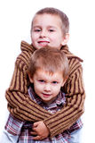 Two happy brothers Stock Image