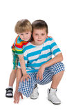 Two happy brothers Royalty Free Stock Photos
